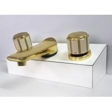 Misturador Lavatório Deca Maxim 1875 Bege Dourado CD75